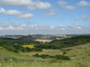 Au Bouscarrot-Aussicht nach Westen